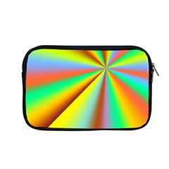Burst Radial Shine Sunburst Sun Apple Macbook Pro 13  Zipper Case by Onesevenart