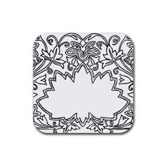 Bouquet Flower Decoration Pattern Rubber Square Coaster (4 Pack)  by Onesevenart