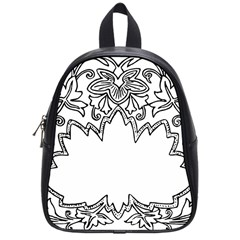 Bouquet Flower Decoration Pattern School Bag (small) by Onesevenart