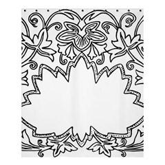 Bouquet Flower Decoration Pattern Shower Curtain 60  X 72  (medium)  by Onesevenart