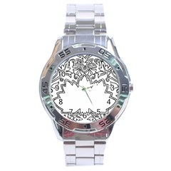 Bouquet Flower Decoration Pattern Stainless Steel Analogue Watch by Onesevenart