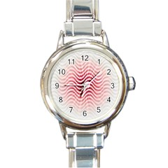 Art Abstract Art Abstract Round Italian Charm Watch by Onesevenart