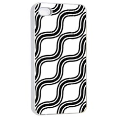 Diagonal Pattern Background Black And White Apple Iphone 4/4s Seamless Case (white) by Onesevenart