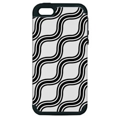 Diagonal Pattern Background Black And White Apple Iphone 5 Hardshell Case (pc+silicone) by Onesevenart