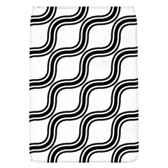 Diagonal Pattern Background Black And White Flap Covers (l)  by Onesevenart