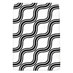 Diagonal Pattern Background Black And White Flap Covers (s)  by Onesevenart