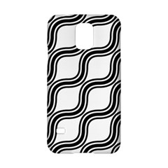 Diagonal Pattern Background Black And White Samsung Galaxy S5 Hardshell Case  by Onesevenart