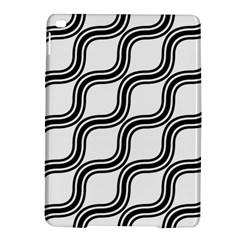 Diagonal Pattern Background Black And White Ipad Air 2 Hardshell Cases by Onesevenart