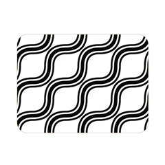 Diagonal Pattern Background Black And White Double Sided Flano Blanket (mini)  by Onesevenart