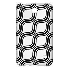 Diagonal Pattern Background Black And White Samsung Galaxy Tab 4 (8 ) Hardshell Case  by Onesevenart