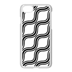 Diagonal Pattern Background Black And White Apple Iphone 7 Seamless Case (white) by Onesevenart