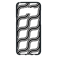 Diagonal Pattern Background Black And White Samsung Galaxy S8 Plus Black Seamless Case