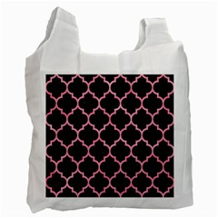 Tile1 Black Marble & Pink Watercolor (r) Recycle Bag (two Side)  by trendistuff