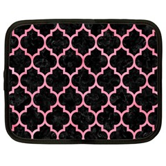 Tile1 Black Marble & Pink Watercolor (r) Netbook Case (xl)  by trendistuff