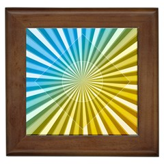 Abstract Art Art Radiation Framed Tiles by Onesevenart