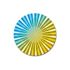 Abstract Art Art Radiation Magnet 3  (round) by Onesevenart