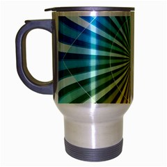 Abstract Art Art Radiation Travel Mug (silver Gray) by Onesevenart