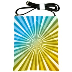Abstract Art Art Radiation Shoulder Sling Bags by Onesevenart
