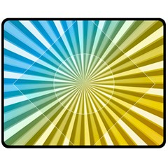 Abstract Art Art Radiation Fleece Blanket (medium)  by Onesevenart