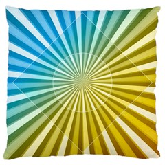 Abstract Art Art Radiation Large Cushion Case (two Sides) by Onesevenart