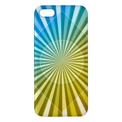 Abstract Art Art Radiation Apple Iphone 5 Premium Hardshell Case by Onesevenart