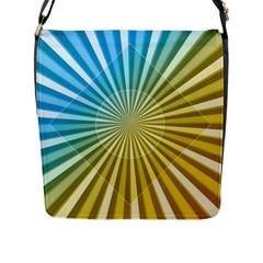 Abstract Art Art Radiation Flap Messenger Bag (l)  by Onesevenart