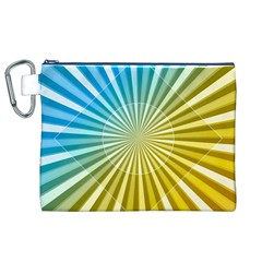 Abstract Art Art Radiation Canvas Cosmetic Bag (xl) by Onesevenart