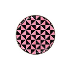 Triangle1 Black Marble & Pink Watercolor Hat Clip Ball Marker (4 Pack) by trendistuff
