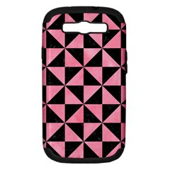 Triangle1 Black Marble & Pink Watercolor Samsung Galaxy S Iii Hardshell Case (pc+silicone) by trendistuff