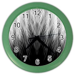 Feather Graphic Design Background Color Wall Clocks by Onesevenart