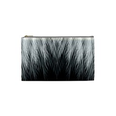 Feather Graphic Design Background Cosmetic Bag (small)  by Onesevenart