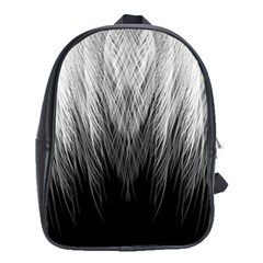 Feather Graphic Design Background School Bag (xl) by Onesevenart
