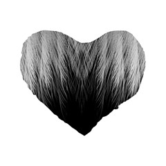 Feather Graphic Design Background Standard 16  Premium Flano Heart Shape Cushions by Onesevenart
