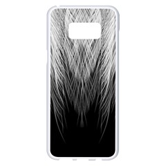 Feather Graphic Design Background Samsung Galaxy S8 Plus White Seamless Case by Onesevenart