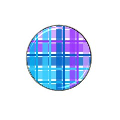 Gingham Pattern Blue Purple Shades Hat Clip Ball Marker (4 Pack) by Onesevenart
