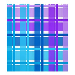 Gingham Pattern Blue Purple Shades Shower Curtain 66  X 72  (large)  by Onesevenart
