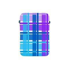 Gingham Pattern Blue Purple Shades Apple Ipad Mini Protective Soft Cases by Onesevenart