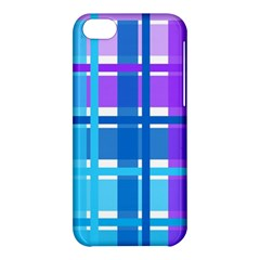 Gingham Pattern Blue Purple Shades Apple Iphone 5c Hardshell Case by Onesevenart