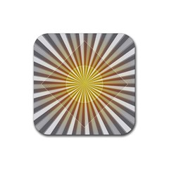 Abstract Art Art Modern Abstract Rubber Coaster (square)  by Onesevenart