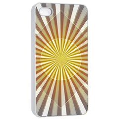 Abstract Art Art Modern Abstract Apple Iphone 4/4s Seamless Case (white) by Onesevenart