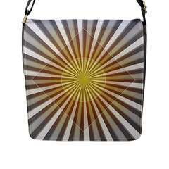 Abstract Art Art Modern Abstract Flap Messenger Bag (l)  by Onesevenart