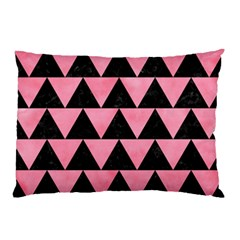 Triangle2 Black Marble & Pink Watercolor Pillow Case by trendistuff