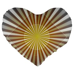 Abstract Art Art Modern Abstract Large 19  Premium Flano Heart Shape Cushions by Onesevenart