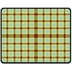 Geometric Tartan Pattern Square Fleece Blanket (medium)  by Onesevenart