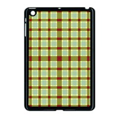 Geometric Tartan Pattern Square Apple Ipad Mini Case (black) by Onesevenart