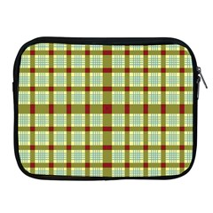 Geometric Tartan Pattern Square Apple Ipad 2/3/4 Zipper Cases by Onesevenart