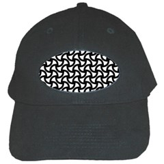 Grid Pattern Background Geometric Black Cap by Onesevenart