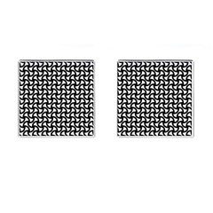 Grid Pattern Background Geometric Cufflinks (square) by Onesevenart