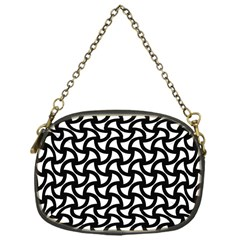 Grid Pattern Background Geometric Chain Purses (one Side)  by Onesevenart