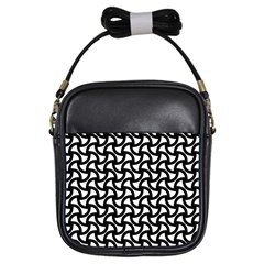 Grid Pattern Background Geometric Girls Sling Bags by Onesevenart